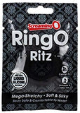 Screaming O Ringo Ritz Mega Stretchy Silicone Cock Ring, Black