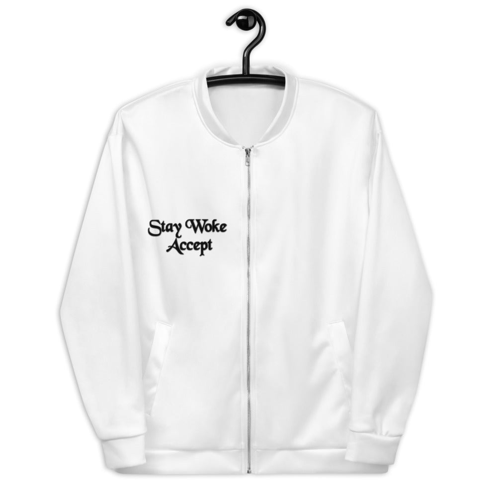 Stay Woke Accept Women Bomber Jacket