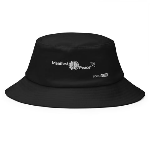 Manifest Peace Old School Bucket Hat