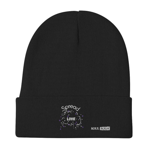 Spread Love Embroidered Beanie