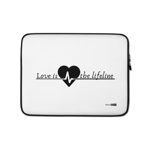 Love is the lifeline Laptop Sleeve