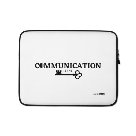 Communication is the key Laptop Sleeve