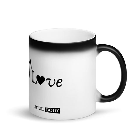 Rise in Love Matte Black Magic Mug