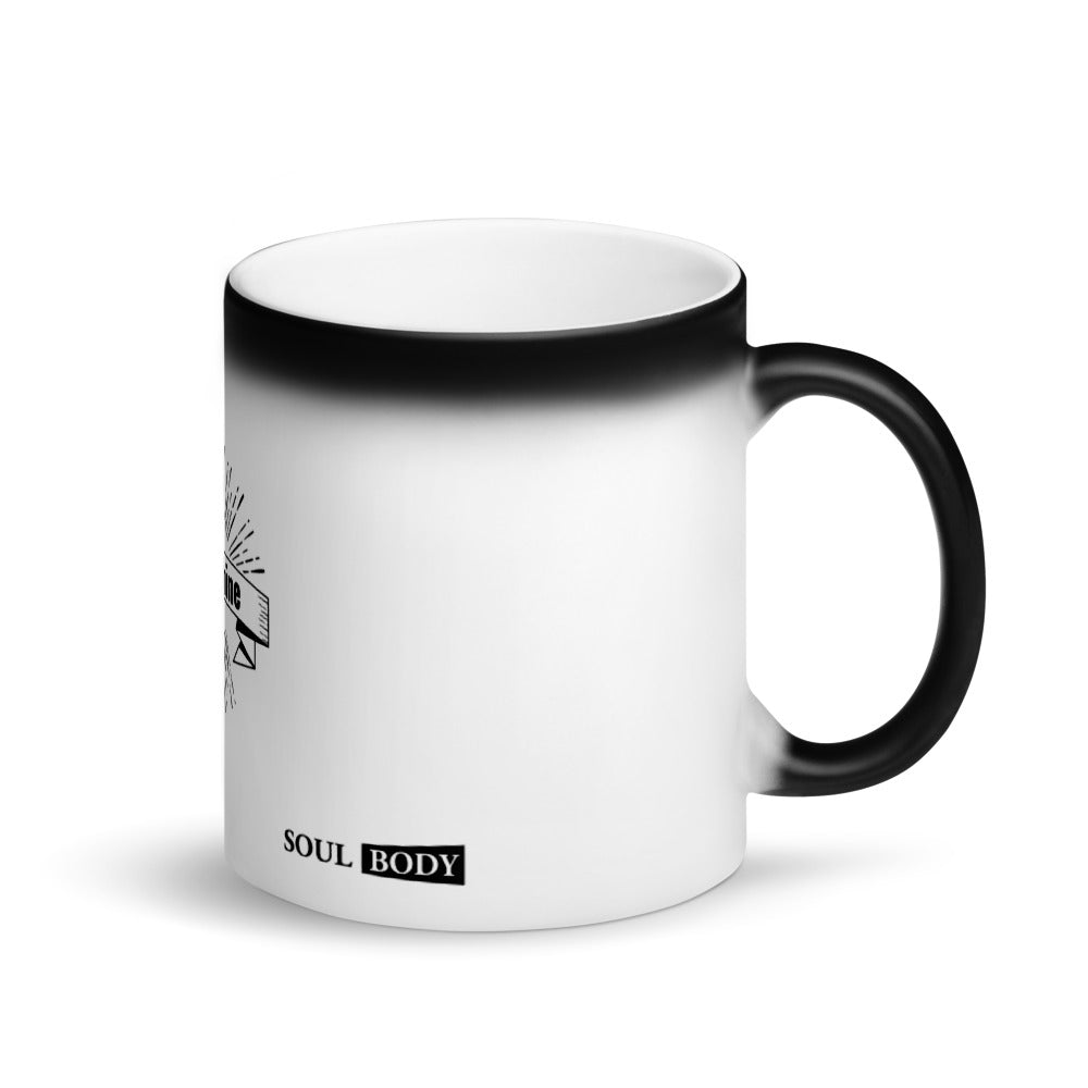 Sunshine Matte Black Magic Mug