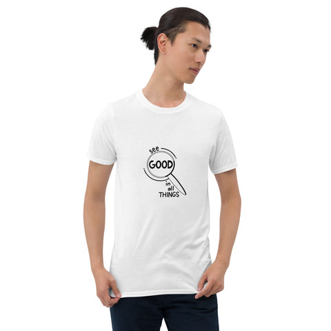 See Good In All Things Printed White Short-Sleeve Men T-Shirt