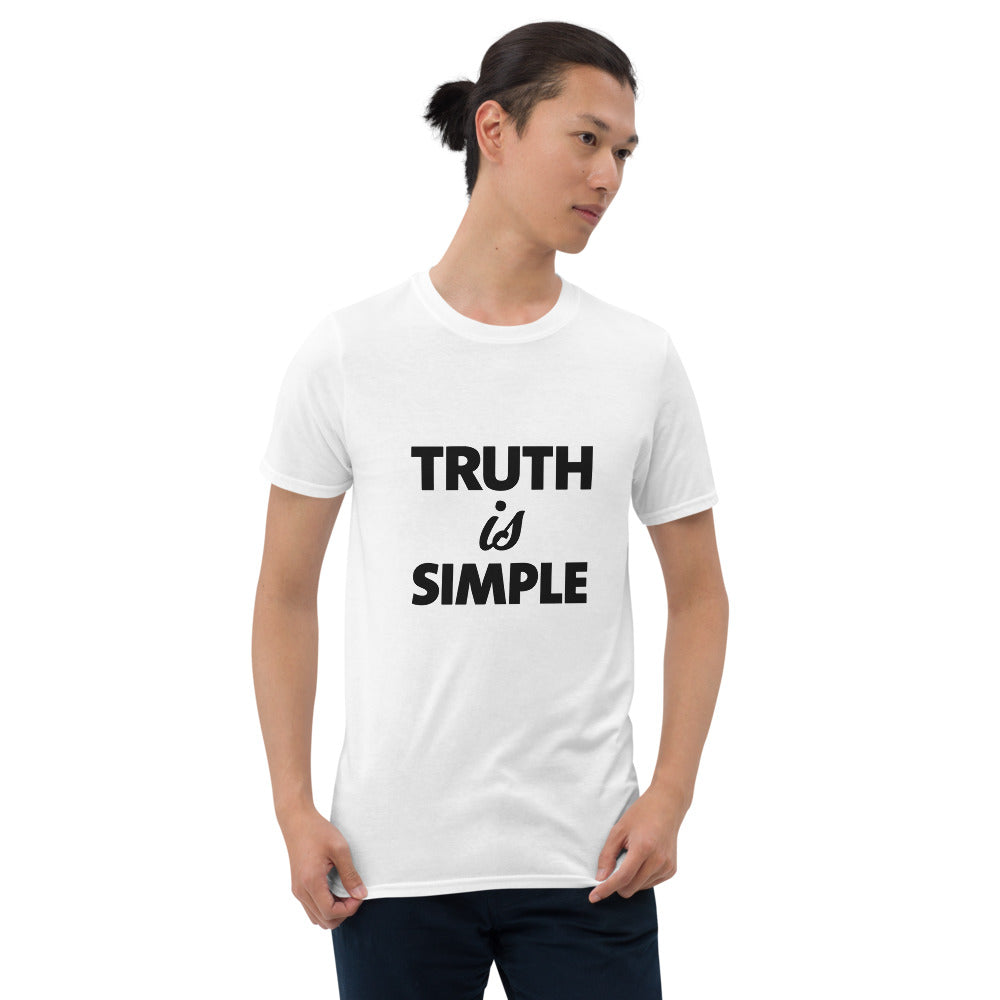 Truth is Simple Short-Sleeve Men White T-Shirt