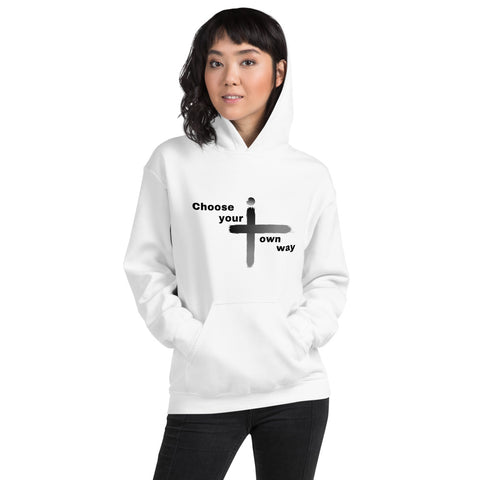 Choose Your Own Way White Women Hoodie