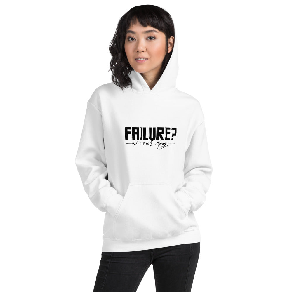 Failure No Such Things Printed Women White Hooded Sweatshirt