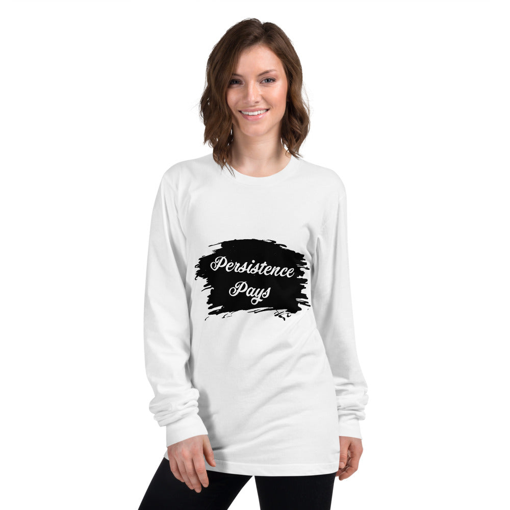 Persistence Pays Printed Women White Long sleeve T-shirt