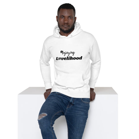 Enjoying Lovelihood Men White Hoodie