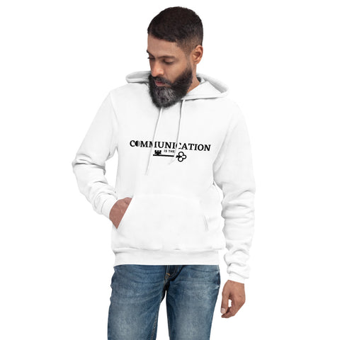 Communication is the key Men's hoodie