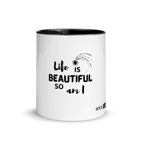 Life is Beautiful Mug with Color Inside