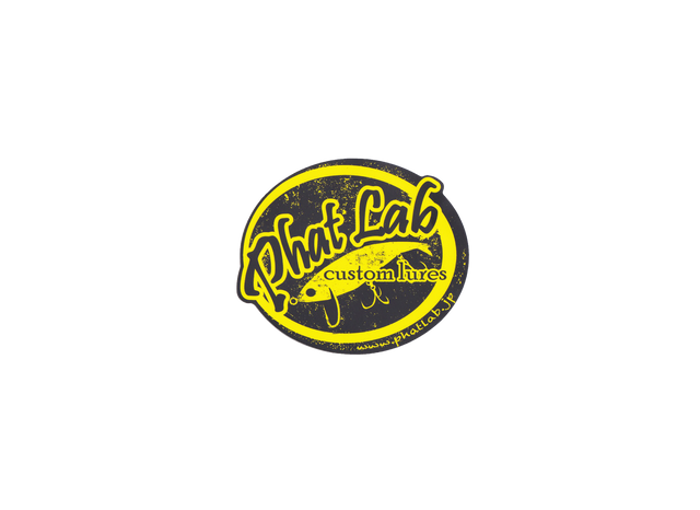 LOGO STICKER / BLACK x YELLOW