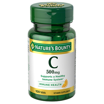 Nature'S Bounty Vitamin C, 500Mg, 100 Tablets, Vitamin Supplement For Immune System Support
