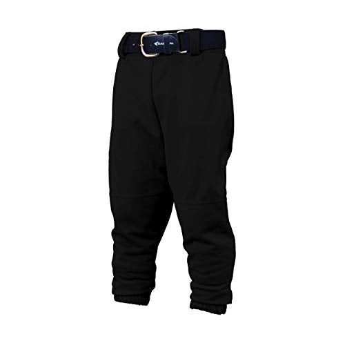 Easton Youth Pro Pull Up Baseball Softball Pant | 2020 | Black | Youth X Small | Drawstring Waistband | Batting Glove Back Pocket