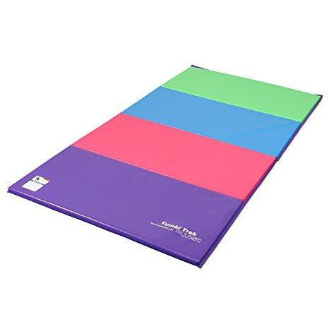 Tumbl Trak Tumbling Panel Mat, Bright Pastel, 4 ft x 8 ft x 2 in