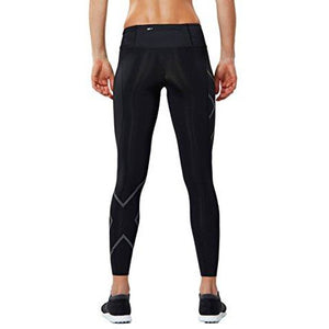 2Xu Women'S Mcs Run Compression Tights (Black/Nero, Large/Tall)