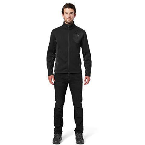 Spyder Men's Bandit Full Zip Stryke Jacket, Black/Black/Black, Small