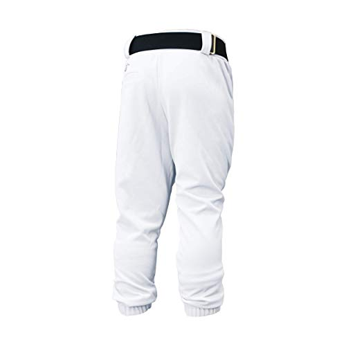Easton Youth Pro Pull Up Baseball Softball Pant | 2020 | White | Youth Large | Drawstring Waistband | Batting Glove Back Pocket |