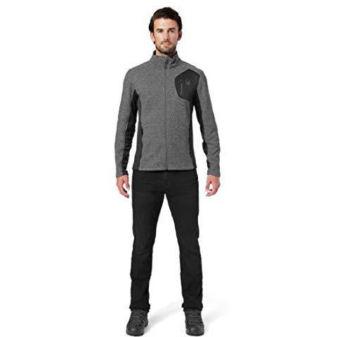 Spyder Men's Bandit Full Zip Stryke Jacket, Black/Black/Polar, Medium