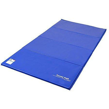 Tumbl Trak Gymnastics Folding Tumbling Panel Mat, 4ft x 8ft x 1-3/8in, Royal Blue
