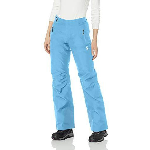 Spyder Women's Winner Gore-tex Ski Regular Fit Pants, Blue Ice/Blue Ice, Size 2