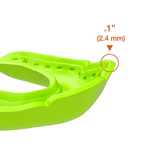 Shock Doctor Ultra-Slim Microfit Mouthguard | 2.4Mm Mouth Guard | For Football, Hockey, Lacrosse, Baseball, Softball, Basketball,