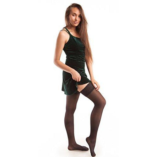 GABRIALLA Sheer Graduated Compression Thigh High Stockings (20-22 mmHg) H-40