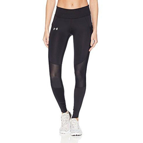 Under Armour Women's SpeedPocket Run Tights, Black /Reflective, Medium