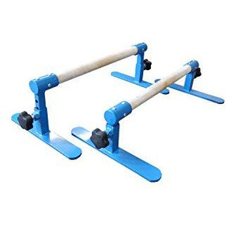 Tumbl Trak Parallette Bars Blue, Adjustable