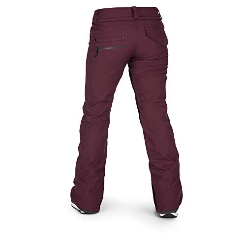 Volcom Women's Species Stretch Snowpant, Merlot, Extra Small