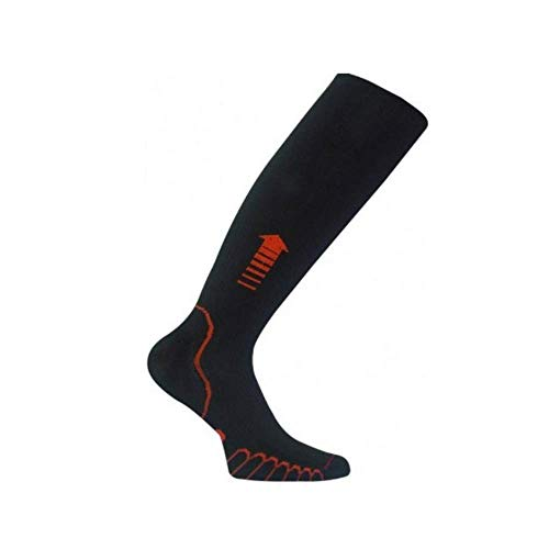 Eurosocks Patented Recovery Graduated Compression Sock, Black, Large