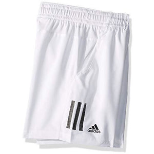 Adidas Juniors' 3-Stripes Club Tennis Shorts, White/Black, Large