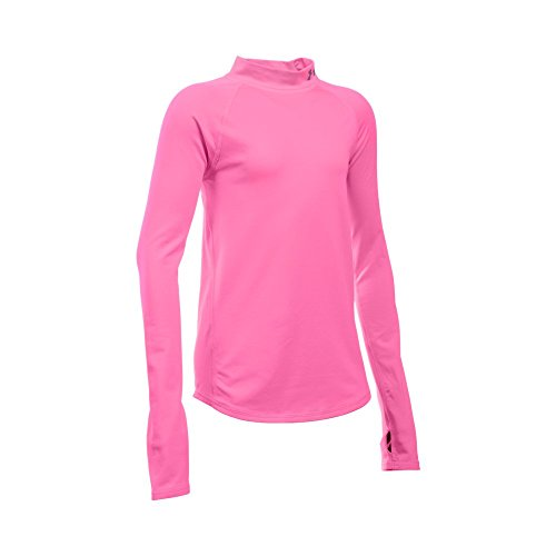 Under Armour Girls' ColdGear Mock, Pink Punk/Pink Punk, Youth X-Large