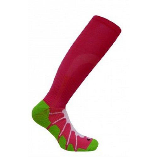 Sox Italy, Best Patented Graduated Compression, Silver Drysat Increased Circultion For Any Sport Or Activity Fuschia/Lime, Medium