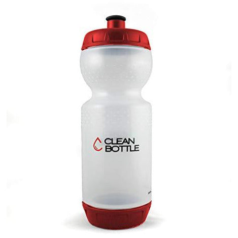 Clean Bottle - Original With Patented Easy Clean Bottom Cap, Bpa-Free, Sport And Bike Water Bottle, 23 Oz Red