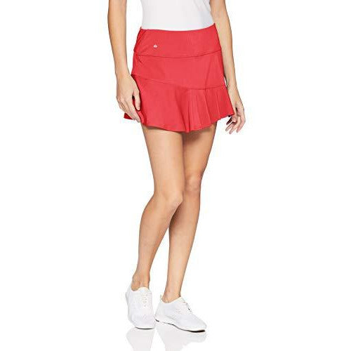 Bollé Catalina Asymmetrical Layered Tennis Skirt with Shorts, Catalina Coral, Large