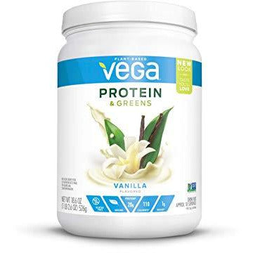 Vega Protein & Greens Vanilla (18 Servings, 1.16 Lb) - Plant Based Protein Powder, Keto-Friendly, Gluten Free, Non Dairy, Vegan, N
