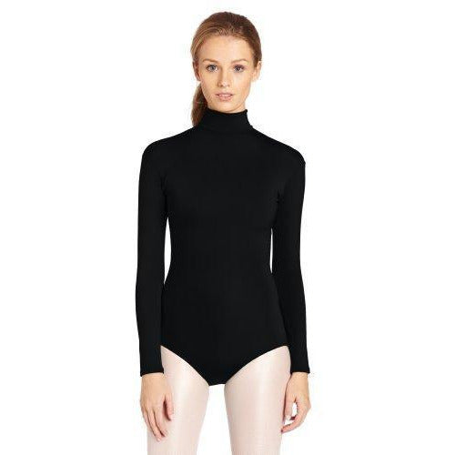 Capezio Women'S Turtleneck Long Sleeve Leotard black small
