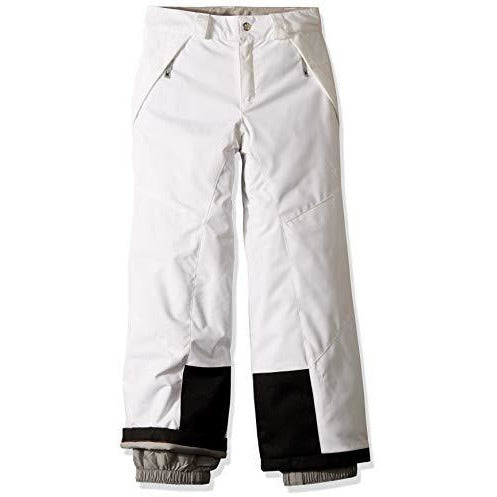 Spyder Girls' Olympia Ski Pant Regular Fit, White/Black, Size 10