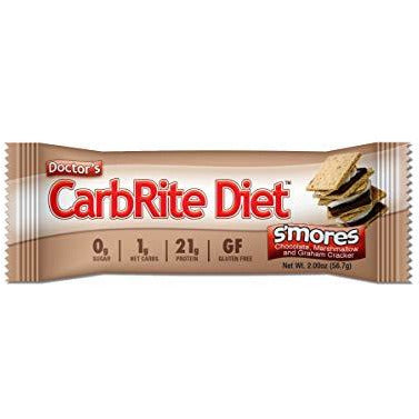 Universal Nutrition Gluten Free, Sugar Free, Doctor'S Carbrite Diet Protein Bar S'Mores 2 Oz Bar 12 Count