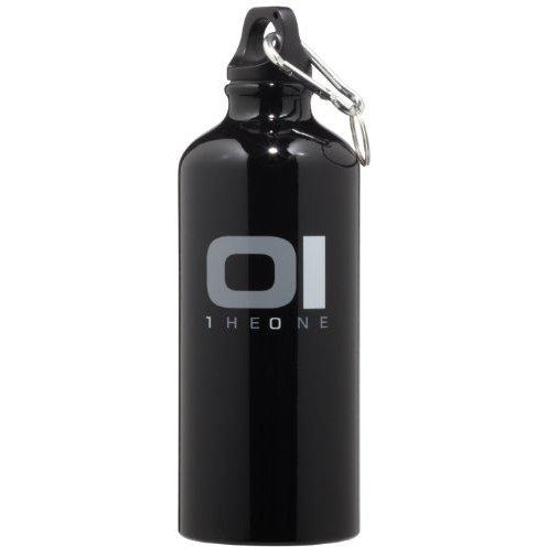 01Theone Black Logo Sport Water Bottle, 18 Fl.Oz