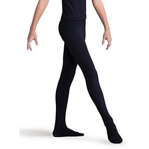 Capezio Big Boys' Tactel Footed Tight, Black, Large
