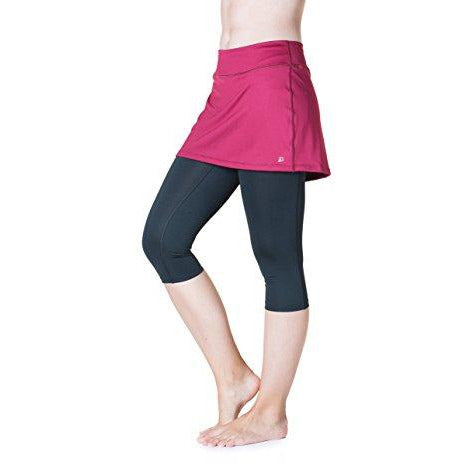 Skirt Sports Women's Lotta Breeze Capri Skirt, Ruby/Black, X-Small