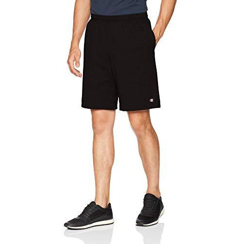 Champion Men'S Jersey Short With Pockets, Black, 4X-Large