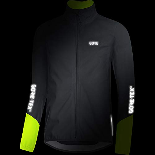 Gore Men's C5 Gtx Active Jacket,  black/neon yellow,  XL