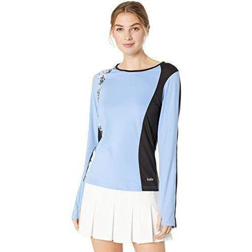 Bollé High Resolution Long Sleeve Tennis Top, High Resolution Periwinkle, X-Large