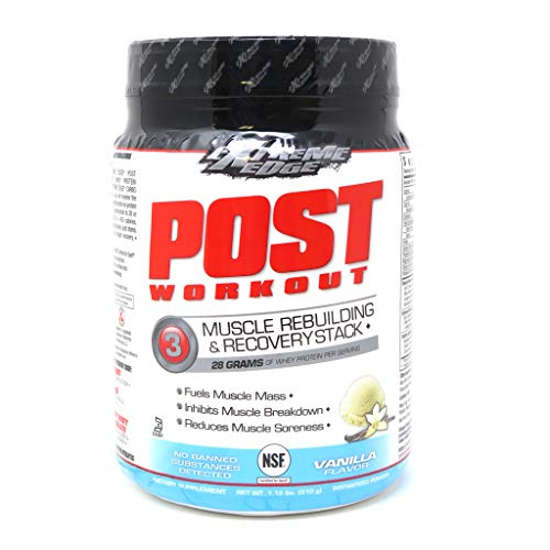 Bluebonnet Nutrition Extreme Edge Post Workout Powder, Vanilla Flavor, 1.12 Pound