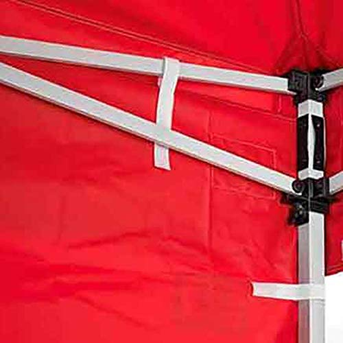 Impact Canopy 10-Foot Canopy Tent Wall Set, 1 Solid Sidewall And 1 Middle Zipper Sidewall Only, Red