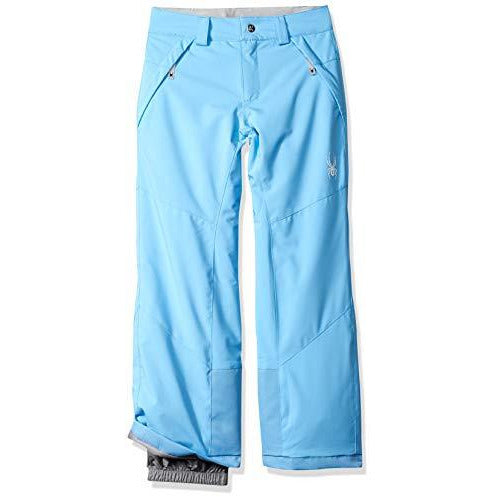 Spyder Girls' Olympia Ski Pant Regular Fit, Blue Ice/Blue Ice, Size 8